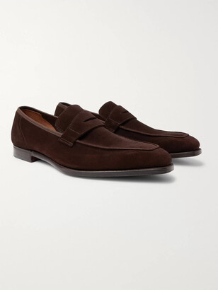 George Cleverley George Pebble-Grain Leather Penny Loafers