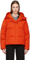 Kenzo Orange Down Funnel Collar Puffer Jacket