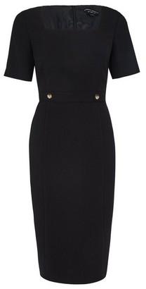 Dorothy Perkins Womens Black Square Neck Shift Dress, Black