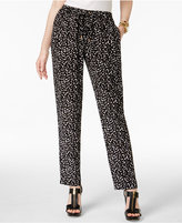 MICHAEL Michael Kors Pull-On Floral-Print Pants