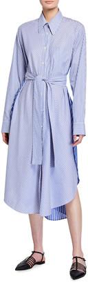 Stella McCartney Kyra Pinstriped Poplin Shirtdress