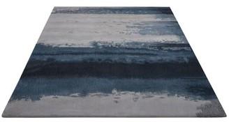 Calvin Klein Luster Wash Handmade Blue Area Rug Rug Size: Rectangle 4' x 6'