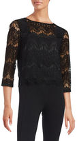 Marina Lace-Overlay Top