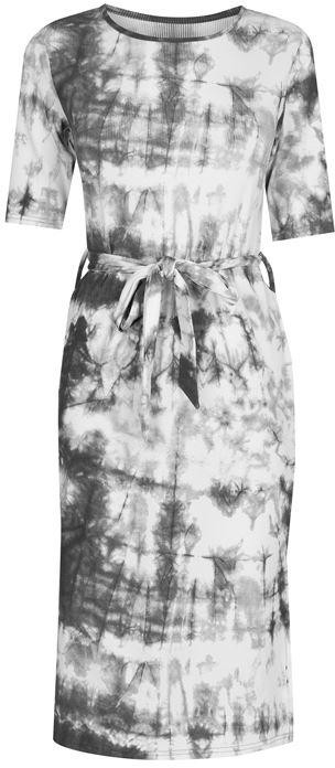 Thumbnail for your product : Fabric Tie Dye Ribbed Midi Dress with Tie Waist Detail