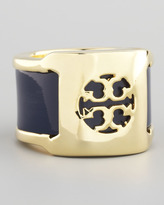 Tory Burch Patent Leather Band Ring, Blue