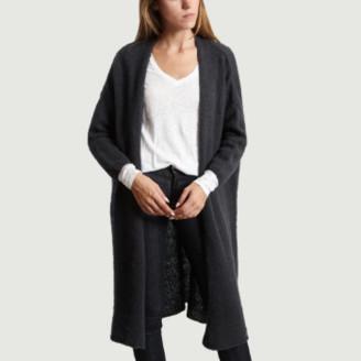American Vintage Long Gray Wool Vapcloud Cardigan - U | Wool and Acrylic | gray