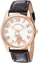 U.S. Polo Assn. Women's Quartz Metal Casual Watch, Color:Brown (Model: USC42026AZ)