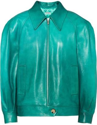 Miu Miu Ombre Lambskin Leather Jacket