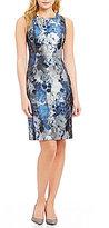 Calvin Klein Brocade Floral Print Sheath Dress