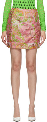 MAISIE WILEN SSENSE Exclusive Pink Call Me Mini Skirt