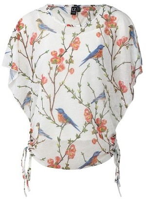 Dorothy Perkins Womens Izabel London White Floral And Bird Print T