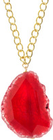 Susan Hanover Pink Agate Pendant Necklace