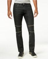 Calvin Klein One Men's Slim-Fit Black-Wash Multi-Zipper Jeans