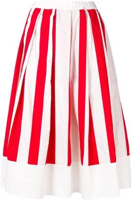 Comme des Garcons Striped Full Skirt