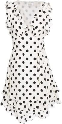 Zimmermann Ruffled Polka-dot Silk Crepe De Chine Mini Dress