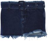Marques Almeida Marques' Almeida Belted frayed denim mini skirt