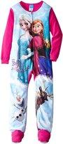 Disney Little Girls'2-6X Frozen Elsa and Anna Blanket Sleeper