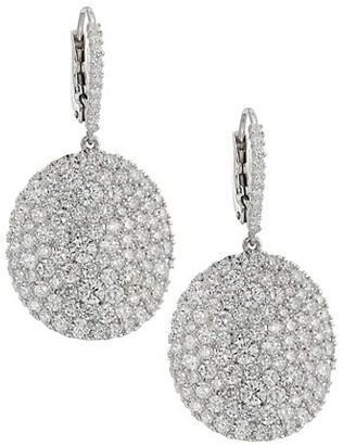 Etho Maria Baby Vibrant 18K White Gold & Diamond Disc Earrings