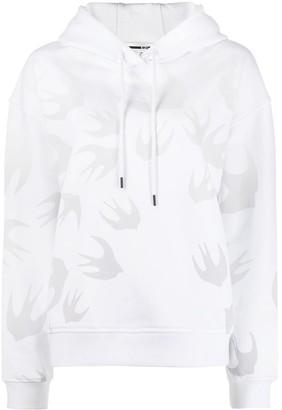 McQ Code bird print hoodie