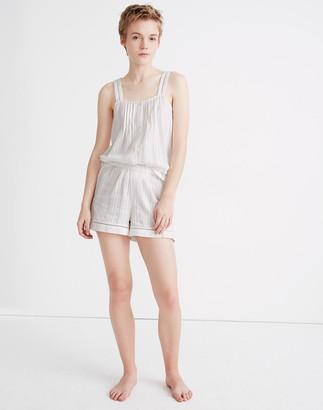 Madewell Eyelet-Inset Pajama Shorts