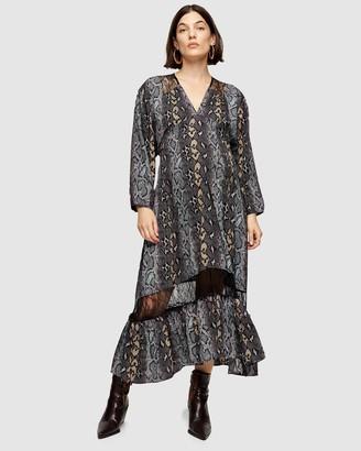 Topshop Maternity Lace Trim Smock Dress