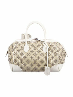 Louis Vuitton Bouclettes Speedy Round Bag Silver