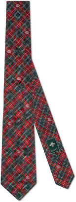 Gucci Houndstooth silk tie