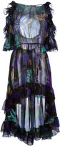 Alberta Ferretti asymmetric ruffle dress - women - Silk - 38