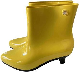 Jeremy Scott Yellow Plastic Ankle boots