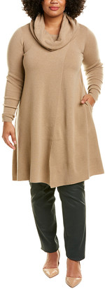 Lafayette 148 New York Plus Cowl Wool Sweaterdress