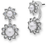 Marchesa Pearl and Crystal Floater Earrings