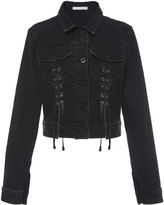Jonathan Simkhai Denim Lace Up Crop Jacket