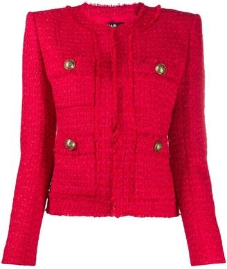 Balmain Tweed Boxy Fit Jacket