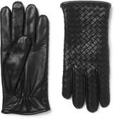 Bottega Veneta - Cashmere-lined Intrecciato Leather Gloves