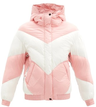 Perfect Moment Aspen Quilted Down Hooded Jacket - Pink White