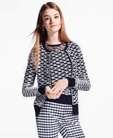 Brooks Brothers Geometric Cotton Cardigan