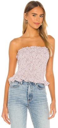 1 STATE Strapless Wildflower Tube Top
