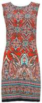 Wallis Orange Tile Print Shift Dress