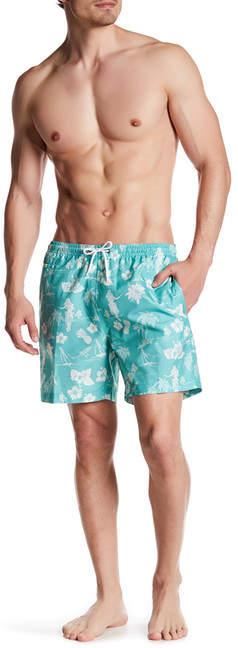 Trunks San O Hawaiian Floral Swim