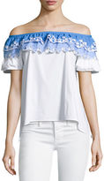 Peter Pilotto Embroidered Off-Shoulder Top