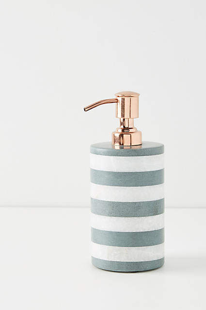 Anthropologie Striped Stone Bath Collection