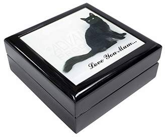 Black Cat 'Love You Mum' Keepsake/Jewellery Box Christmas Gift