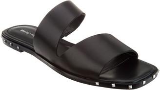 Marc Fisher Leather Studded Slide Sandals - Jaylin