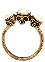 House Of Harlow Triple Skull Ring