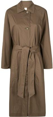 Lee Mathews Long-Sleeve Belted Shirt-Dress