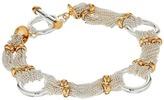 "Lauren Ralph Lauren Back to Basics II 7.5"" Fine Chain and Ring Two-Tone Bracelet"