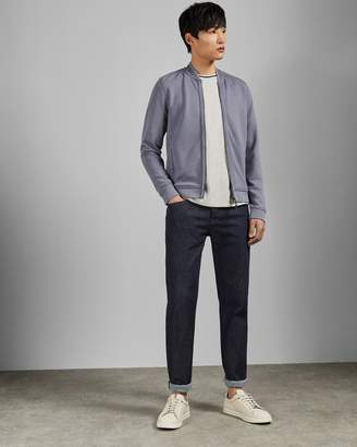 Ted Baker Bomber Jacket With Woven Panels