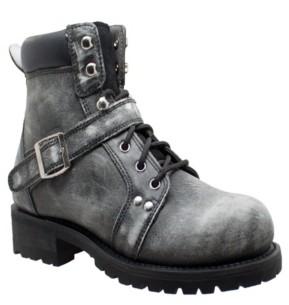 "AdTec Men's 6"" Lace Zipper Boot Men's Shoes"