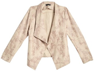 Love Token Tie-Dye Draped Collar High/Low Jacket