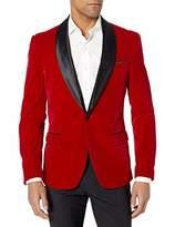Azaro Uomo Men's Blazer Jacket Button Dress Casual Black Blue Rose